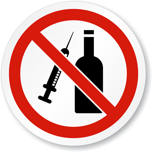 say no to alcohol and drugs for boosting testosterone