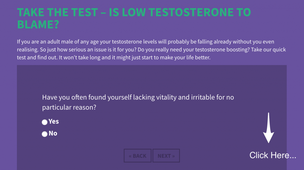 low testosterone test