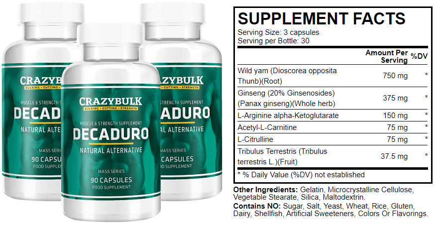 crazybulk decaduro ingredients